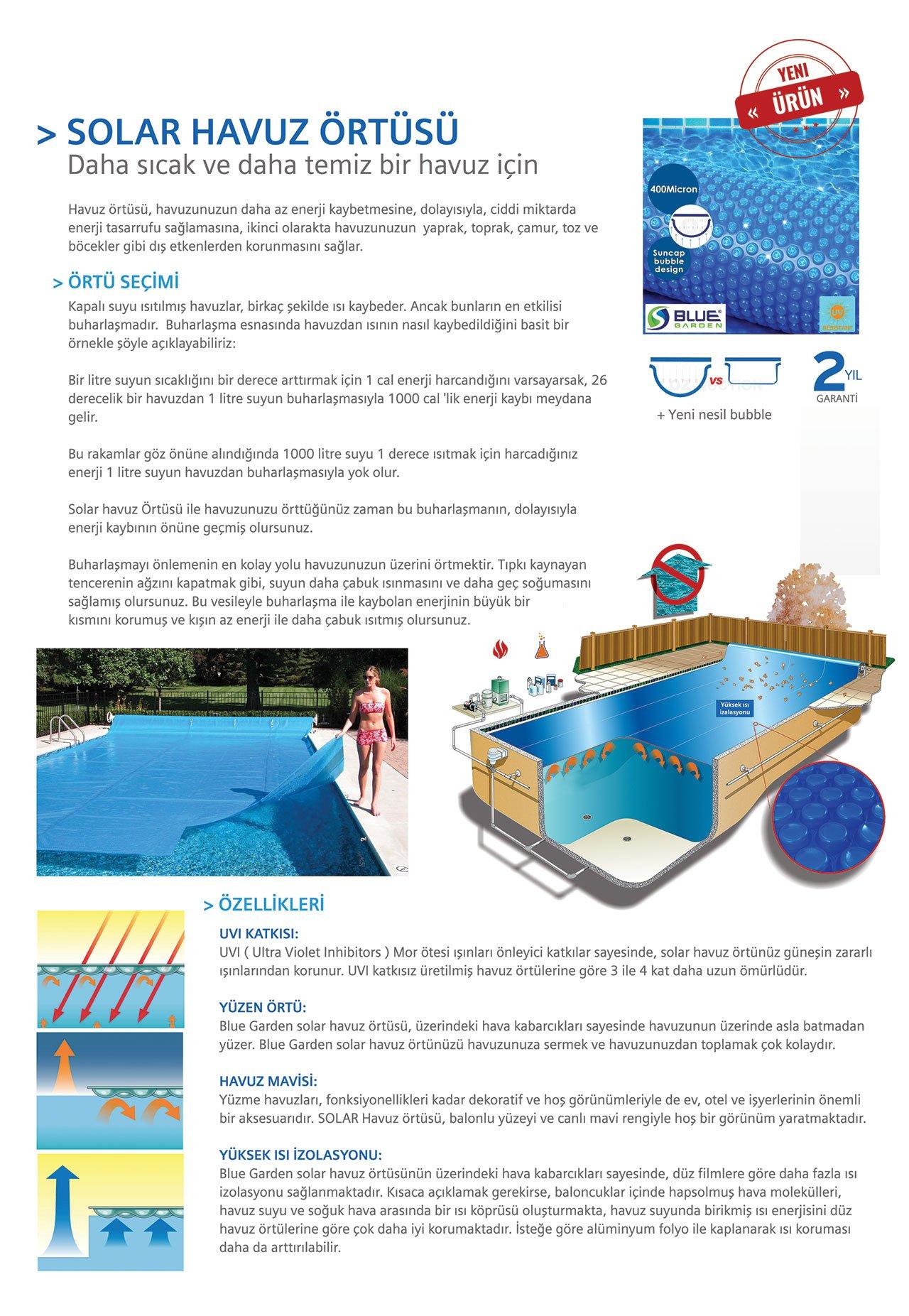 solar havuz ortusu detay - Solar Havuz Örtüsü (Yazlık)